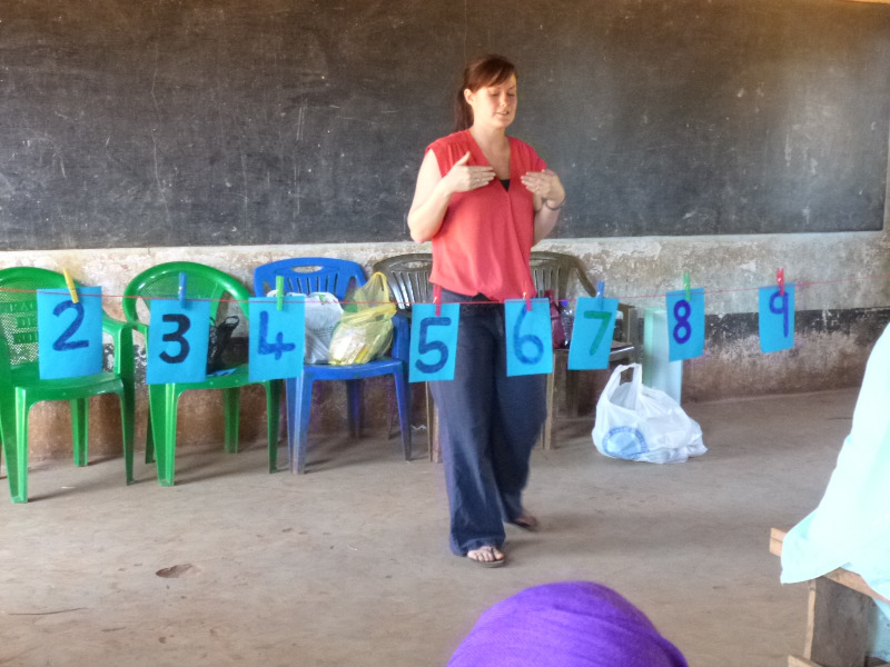 Rachael teaching in Bereko Pri